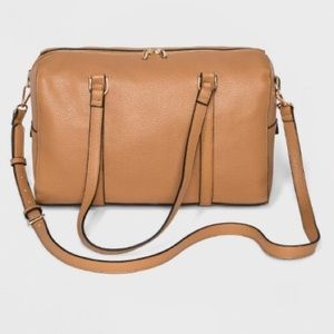 A New Day-  Small Duffle Bag - Cognac - NWT